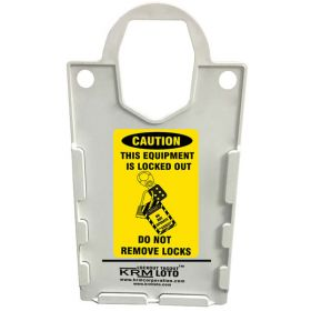 10pcs KRM LOTO – LARGE DISPLAY  TAG HOLDER - DO NOT REMOVE LOCKS