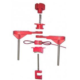 Universal Valve Lockout Device with Two Large Blocking Arm and Steel Insulated Cable