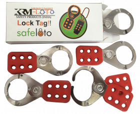 Vinyl Molded coated Hasp - Premier -jaw dia -38/39mm - RED (Set of 5 Pcs)