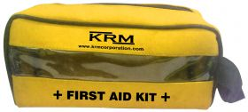 FIRST AID KIT POUCH (TRANSPARENT) - YELLOW