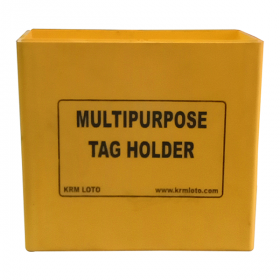 KRM LOTO MULTIPURPOSE TAG HOLDER  - Yellow (Without Material)