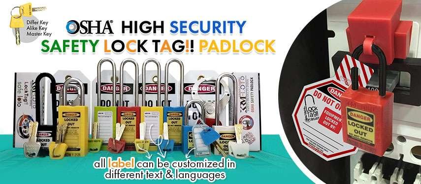 OSHA High-Security Safety Lock Tag Padlock
