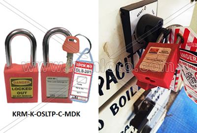 OSHA safety lockout padlock
