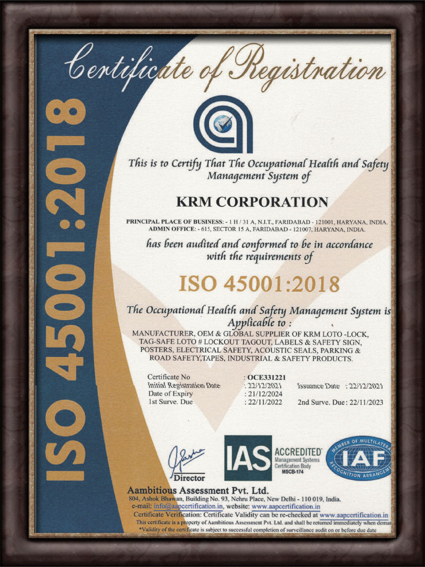 Occupational Health and Safety Management Systems (OHSMS) 45001:2018