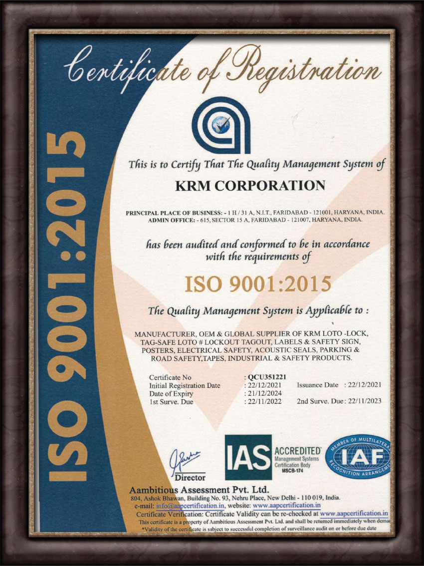 Quality Management System (QMS) 9001:2015